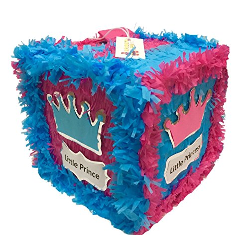 APINATA4U Little Prince Little Princess Pull Strings Block Pinata