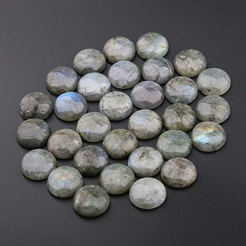 4mm Cabochon Flash Labradorite Natural Stone Cabochon Beads Natural Stones Round Cabochon Round No Hole for Making Jewelry DIY(20pcs)