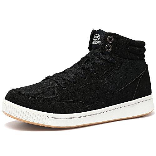 Vilocy Uomo da Donna Inverno Allaperto La Neve Stivali Caviglia Pelliccia Foderato Casuale Sneaker Scarpe Nero 44
