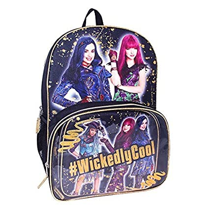 5b58c723723 Image Unavailable. Image not available for. Color  Disney Descendants 2   Wickedly Cool Mal Evie Uma Backpack and Lunch Set