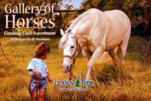 (Gallery of Horses - Greeting Card Assortment by Leanin' Tree (AST90611) - 20 cards with full-color interiors and 22 designed envelopes)