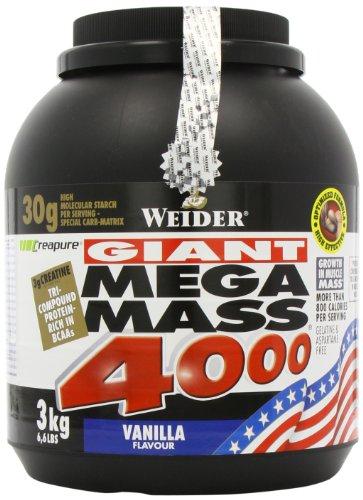 Weider Mega Mass 4000, Vanille, 3kg Dose