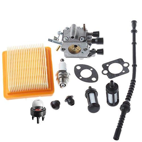 HIPA Carburateur avec Joints Filtre à air Pompe d'Amorçage pour Coupe-bordures STIHL FS120 FS200 FS250 FS300 FS350