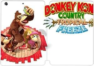 Cubierta de cuero y caja de la PC funda / soporte para funda de Apple iPad Mini 1,2,3 funda Con Magnetic reposo automático Función de despertador DIY por Donkey Kong Country Tropical Freeze I6P2Ro6H5Cc