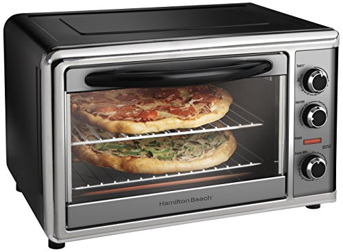 Hamilton Beach 31104 Countertop Oven with Convection and Rotisserie, Silver Double Decker Food