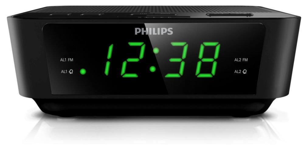 Philips AJ3116/12 - Radio Despertador (Doble Alarma, Snooze, FM Digital, sintonizador Digital), Negro: Philips: Amazon.es: Electrónica