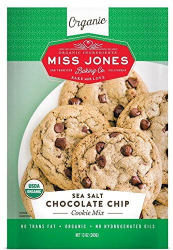 Miss Jones Baking Organic Cookie Mix, Sea Salt Chocolate Chip (Pack of 1)