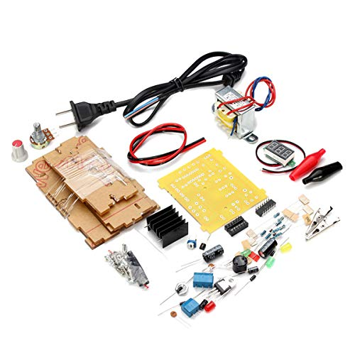 Generic US Plug 110V DIY LM317 Adjustable Voltage Power Supply Board Kit with Case ()