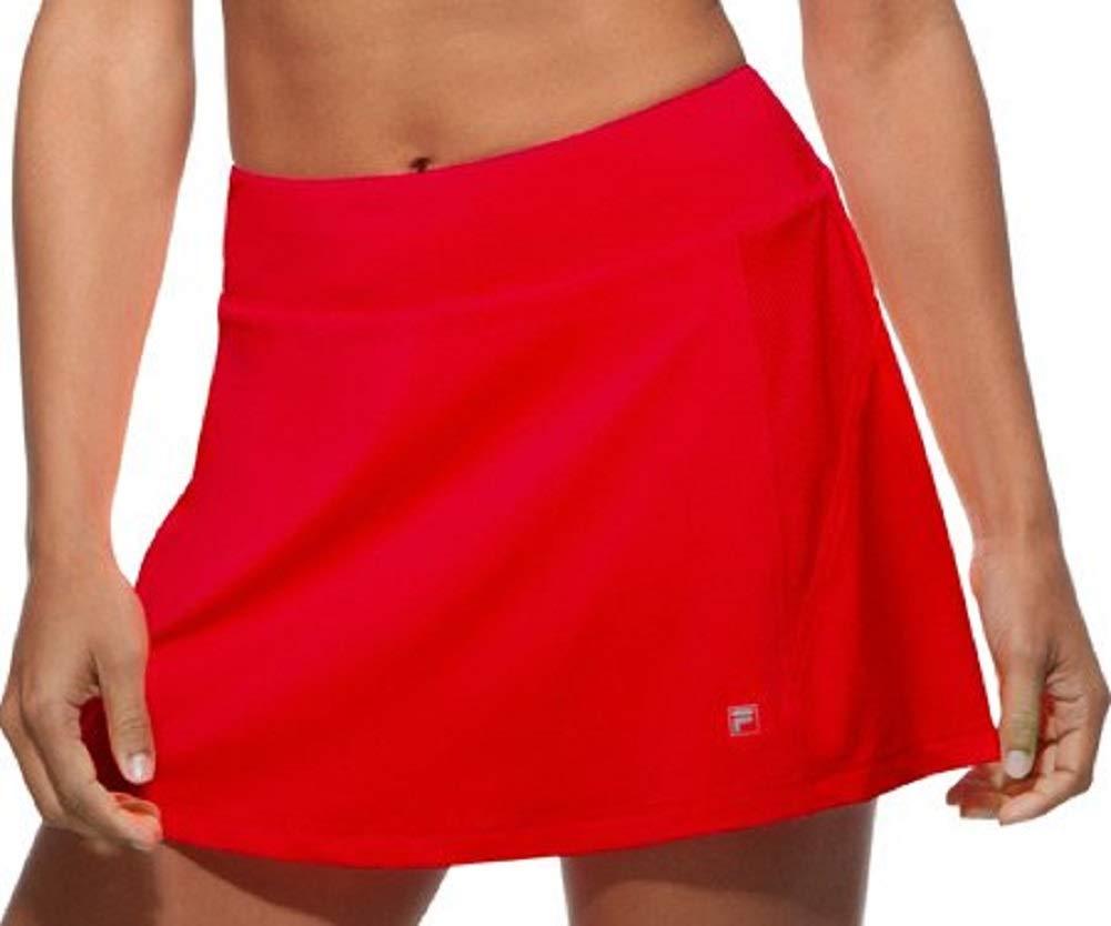 Fila Women's Core A-Line Tennis Skorts, Crimson, XS