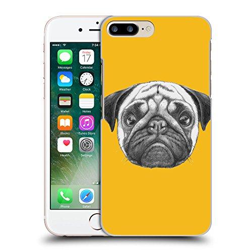 GoGoMobile Coque de Protection TPU Silicone Case pour // Q05440602 Chien pug ambre // Apple iPhone 7 PLUS