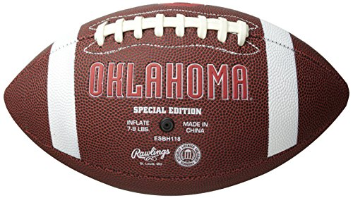(NCAA Game Time Full Size Football , Oklahoma Sooners, Brown, Full Size)