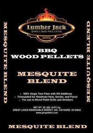 Lumber Jack 20-pounds BBQ Grilling wood pellets (Mesquite Blend)