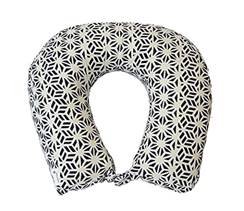 KANYOGA Memory Foam Neck Pillow Comfortable Travel Pillow Printed Neck Support Navy Blue (Lavanda Collo Wrap)