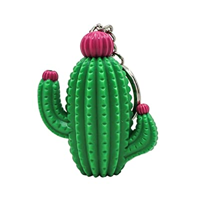 Amosfun - Llavero de Cactus con luz LED para Colgar en el ...