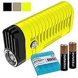 Nitecore MT22A 260 Lumen LED Compact AA Battery Powered Flashlight Plus 2X AA Batteries & LumenTac AA Battery Organizer (Yellow)