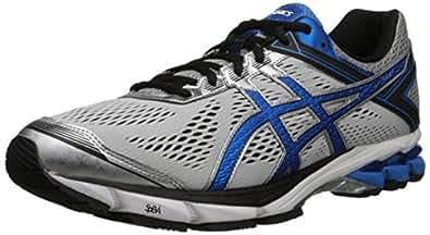 ASICS Men's GT 1000 4 Running Shoe, Silver/Electric Blue/Black, 6 M US