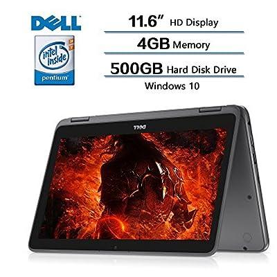"2018 Newest Dell Inspiron 11.6"" 2-in-1 Convertible HD Touchscreen Laptop - Intel Quad-Core Pentium N3710 1.6GHz, 4GB RAM, 500GB HDD, MaxxAudio, 802.11bgn, Webcam, Bluetooth, HDMI, Win 10"