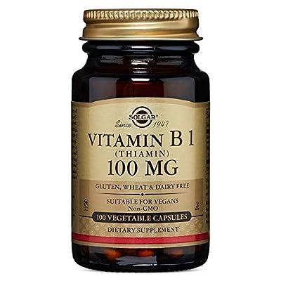Solgar - Vitamin B1 (Thiamin) 100 mg Vegetable Capsules 100 Count