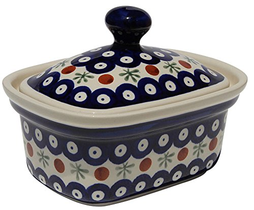 Polish Pottery Butter Tub From Zaklady Ceramiczne Boleslawiec 1188-41 Classic Pattern by Polish Pottery Market (Image #2)