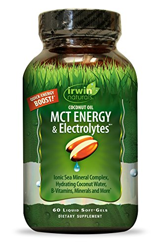 Irwin Naturals Coconut Oil MCT Energy & Electrolytes, Hydrating Ionic Sea Mineral Complex B-Vitamins & Minerals, 60 Liquid Softgels by Irwin Naturals