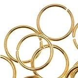 Beadaholique 22K Gold Plated Open 8mm Jump Rings 20 Gauge (50)