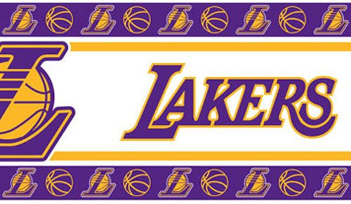 Sports Coverage NBA Los Angeles Lakers Self Stick Wall Border