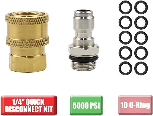 "1//4/"" Coupler x 3//8/"" Female NPT Brass Pressure Washer Adapter 1,000-4000psi"