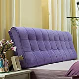FLHSLY Double bed can demolition wash solid color cloth bedside soft package wall backrest bedside cushions , purple , 1.5m