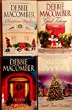 Debbie Macomber Lot Christmas Paperbacks- Home For The Holidays, Christmas Wishes, Small Town Christmas & Glad Tidings (Debbie Macomber Various Christmas Book Lot, 2 Stories each book)