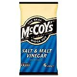 McCoy's Ridge Cut Crisps - Salt & Malt Vinegar (6x30g)
