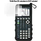 Silicone Case for Ti 84 Plus CE Calculator (Black) - Cover for Texas Instruments Ti-84 Graphing Calculator - Silicon Skin for Ti84 Plus - Protective & Anti-Scretch Cases - Ti 84 Accessories by Sully