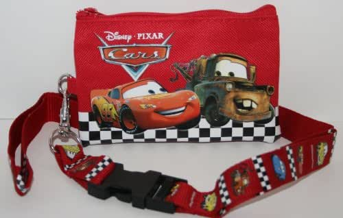 Disney Pixar Cars Red Lanyard with Detachable Coin Purse