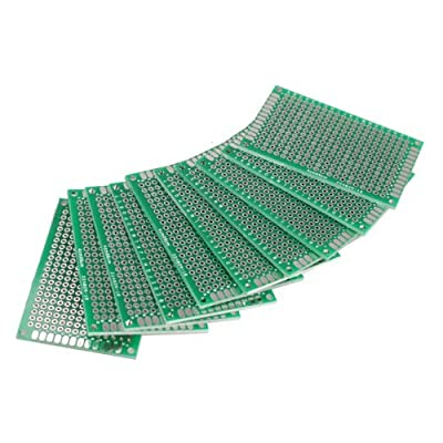 Jocestyle 10 Pcs Double-Side Prototype PCB Universal Printed Circuit Board