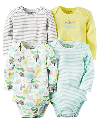 Carters Baby Boys 4-pack Long-sleeve Bodysuits (24 months, ()