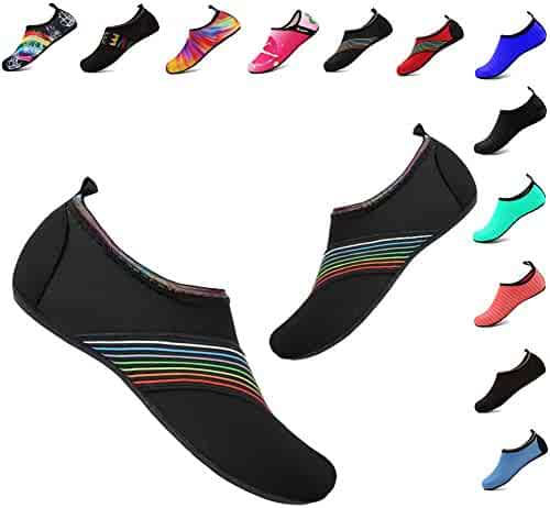 YALOX Water Shoes Women's Men's Outdoor Beach Swimming Aqua Socks Quick-Dry Barefoot Shoes for Surfing Yoga Exercise