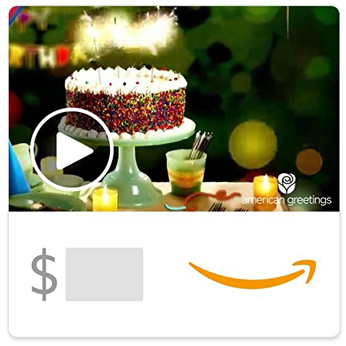 Amazon eGift Card - Birthday Sparkling Wishes (Animated) [American Greetings]