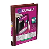Avery Durable View 3 Ring Binder, 0.5 Inch, Ring, Burgundy (34117)