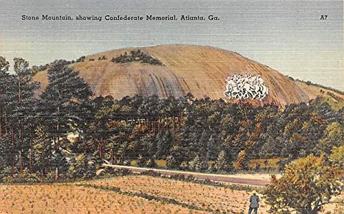 Civil War Post Card Old Vintage Antique Postcard Stone Mountain