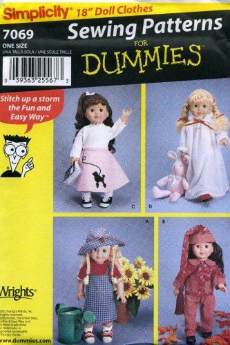 Amazon Simplicity Sewing Patterns For Dummies 18 Doll Clothes