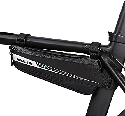 Roswheel Bicicleta Bolsas Bolsa Bicicleta Bolsa Triángulo Bici Material Jacquard Bolsa Tubo Bicicleta Bolsas para el manillar para de la bici del ...