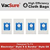 vacuum bag loader - Electrolux Hepa S-Bag for Harmony/Oxygen Canister Vacuum, By VacSure (4 Bags)