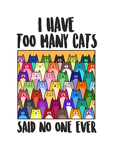 Damen Top I Have Too Many Cats leicht weiß