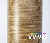 VViViD Driftwood Wood Grain Faux Finish Textured Vinyl Wrap Roll Film for Home Office Furniture DIY Easy to Install No Mess (2ft x 48 Inch)