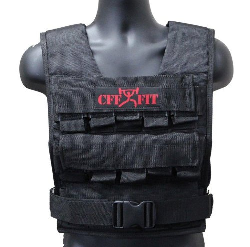CFF  30 Kgs / 66 Lbs Adjustable Weighted Short Vest (Shell Only - Weights Not Included) by CFF