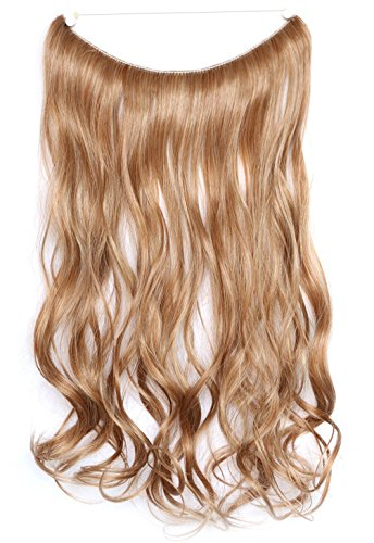 Amazon secret halo hair extensions flip in curly wavy hair swacc straightcurly halo wire hidden hairpiece flip synthetic hair extensions no clip ins 80g pmusecretfo Image collections