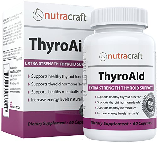Thyroid Support Supplement - Natural Herbal Thyroid Formula With Iodine (Kelp), Ashwagandha (Withania) & L-Tyrosine to Support a Healthy Metabolism, Reduce Fatigue & Promote Weight Loss - 60 Capsules - Thyro Complex