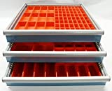 Schaller 140 Pc Red Plastic Box Assortment - 2'' Deep . Six (6) Sizes