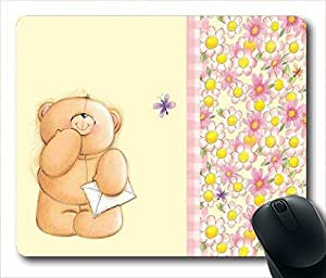 bear and flowers Unique Custom Mouse Pad Gaming Mousepad in 220MM*180MM*3MM -213011