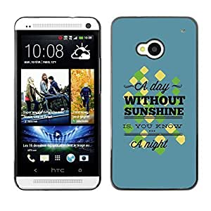 YOYO Slim PC / Aluminium Case Cover Armor Shell Portection //A Day Without Sunshine //HTC One M7