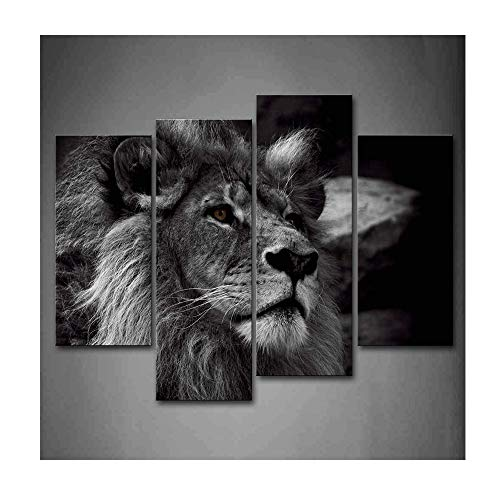 Lion Head Pictures - Black And White Gray Lion Head Portrait Wall Art Painting Pictures Print On Canvas Animal The Picture For Home Modern Decoration …anvas Food The Picture For Home Modern Decoration